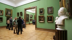 View of The State Tretyakov Gallery. Stock Footage