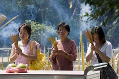 Taoist Temple - Lantau Island - Hong Kong - stock photo