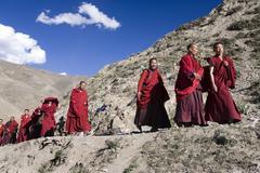 Buddhist Monks - Tibet Stock Photos
