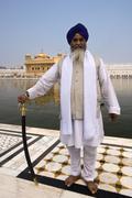 Stock Photo of Sikh Pilgrim - Amritsar - India