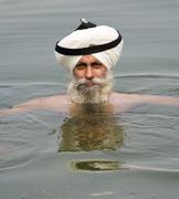 Sikh Pilgrim - Amritsar - India - stock photo