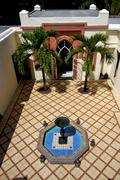 isle   deus cocos ville follies and the fountain - stock photo