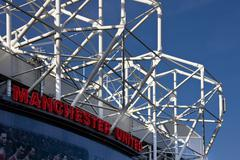 Manchester United Football Stadium in Manchester in England Kuvituskuvat