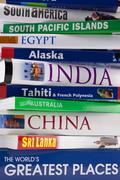 Worldwide Travel Guides - stock photo
