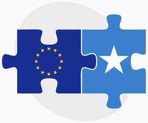 Stock Illustration of European Union and Somalia Flags
