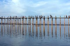 U Bein Bridge - Amarapura - Myanmar Stock Photos