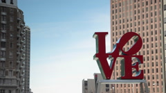 Love Park Sign Philadelphia Stock Footage
