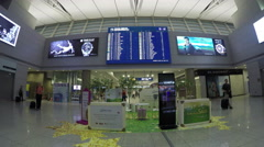 The big time board is in Incheon International Airport  in Seoul South Korea. Stock Footage