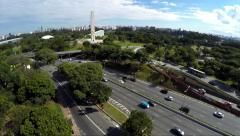 23 May Avenue in Sao Paulo, Brazil Stock Footage