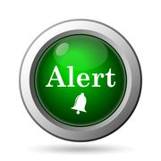 Stock Illustration of Alert icon. Internet button on white background.