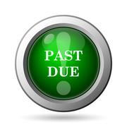 Stock Illustration of Past due icon. Internet button on white background.