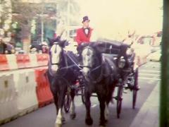 MELBOURNE CITY HORSE & CART (Super8 Film) Stock Footage