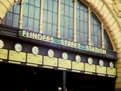 FLINDERS ST STATION (SUPER 8 Movie Film) Stock Footage