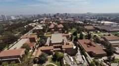 Aerial. Flying over the University of California, Los Angeles, Beverly Hills  wi Stock Footage