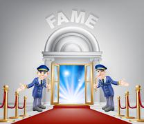 Stock Illustration of Fame Red Carpet Entrance