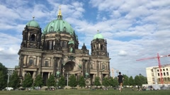 Berliner Dom Time-lapse Stock Footage