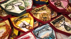 Fashion collection of eyewear - stock footage