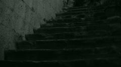 Alone walk in darkness Stock Footage
