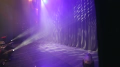 Stage curtain and lights before show. Stock Footage