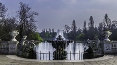 Timelapse of the Tazza fountain in Hyde park, London Stock Footage