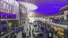 Timelapse of interior of King's Cross station in London - stock footage