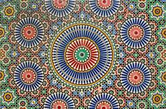 Arab mosaic in Marrakech Stock Photos
