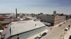 Bushwick Brooklyn Aerial POV - stock footage