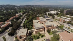 Aerial .Flying over the University of California, Los Angeles, Beverly Hills Stock Footage