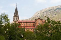 Basilica of Covadonga in Asturias - stock photo