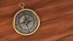 Gold Compass Navigation Travel World Destination - stock illustration