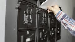 Mailbox letters fill MS Stock Footage