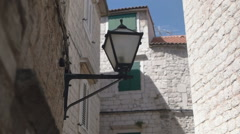 Lantern in the old town Stock Footage