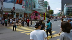 Pedestrian traffic in the central business district of Kuala Lumpur Stock Footage