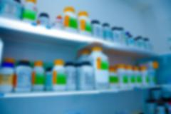 Biological laboratory. blurred background - stock photo