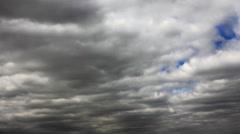 Blue sky through overcast Stock Footage