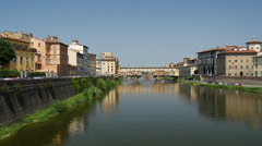 Ponte Vecchio in Florence, Italy Stock Footage