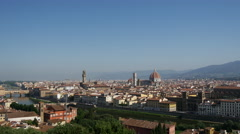 Florence  view from Piazzale Michelangelo Italy Stock Footage