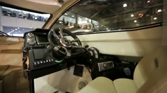 Interior view of luxury motorboat - stock footage