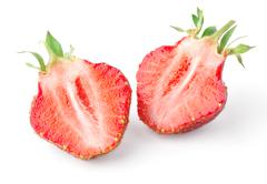 Strawberry slices - stock photo
