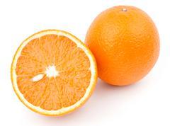 Orange and half - stock photo