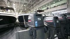 Yamaha speed boat engines. Stock Footage