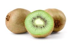 Two kiwi and half Stock Photos
