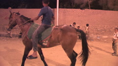Camel's in an alley in Cairo, Egypt at Night Stock Footage