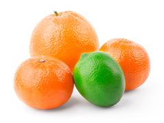 Orange, tangerine and lime Stock Photos