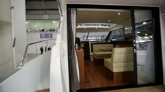 Interior view of luxury yacht. - stock footage