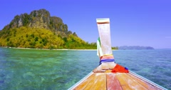 Boat trip in Thailand  Stock Footage
