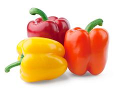 Three color peppers - stock photo