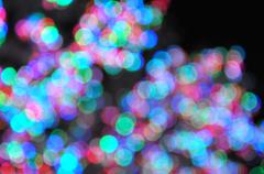 Abstract Circular Bokeh Background From Light Tree - stock illustration