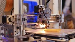 3D printing in process. Advanced technology in use. - stock footage