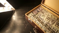 Case full of money Stock Footage